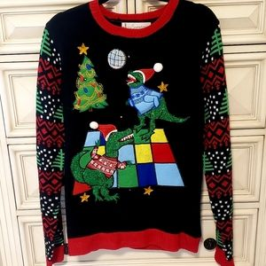 Other - Ugly Tacky Christmas Sweater, Dinosaurs